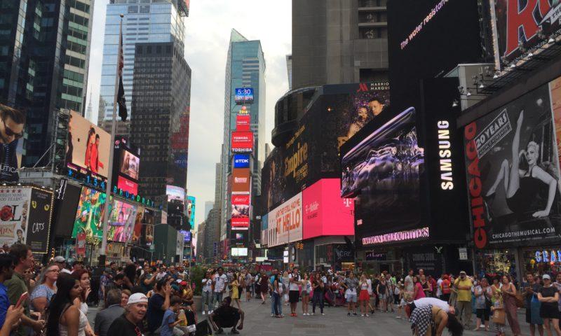 Opptreden på Times Square